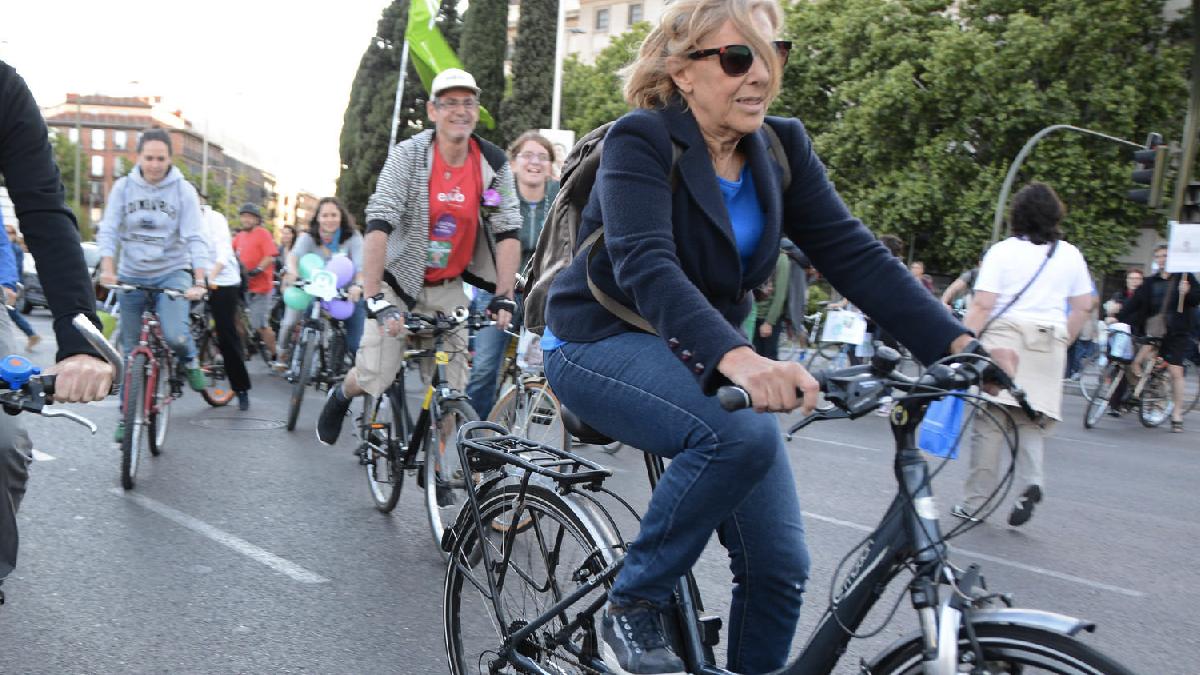 La alcaldesa Carmena en la campaña electoral. (Foto: AM)