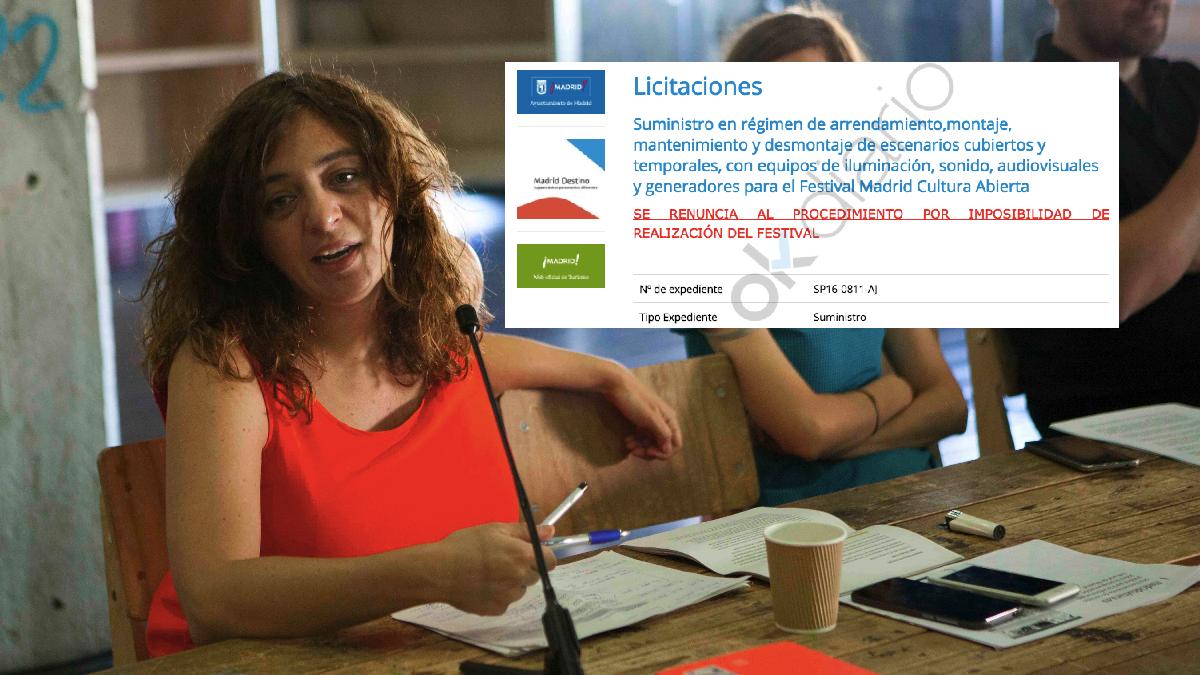 La concejal delegada de Cultura y Deporte, Celia Mayer, y la cancelación. (Foto: Madrid)
