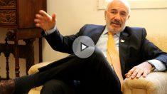 El embajador de Colombia en España, Alberto Furmanski, durante la entrevista. (Foto y Vídeo: E.F.)