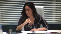 La portavoz de Ciudadanos, Begoña Villacís, en el Pleno de Madrid. (Foto: Madrid)