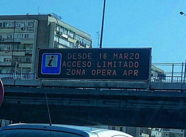 Anuncio del arranque de la APR en Ópera. (Foto: Madrid)