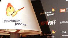 Lámpara con el logo de Gas Natural Fenosa. (foto: EFE)