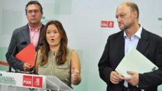 Verónica Pérez junto a Antonio Pradas del PSOE de Andalucía.