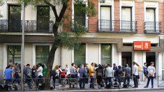 Sede del PSOE en la calle Ferraz en Madrid. (Foto: AFP)