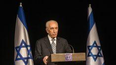 Shimon Peres en una rueda de prensa en julio de 2014. GETTY