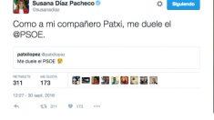 Tuit de Susana Díaz (@susanadiaz).Tuit de Susana Díaz (@susanadiaz).
