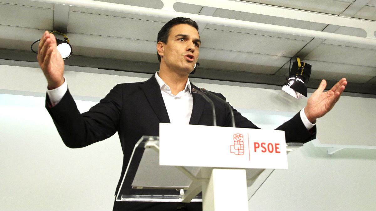 El secretario general del PSOE, Pedro Sánchez (Foto: Efe).