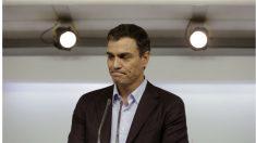 Pedro Sánchez, en su despedida como secretario general del PSOE.