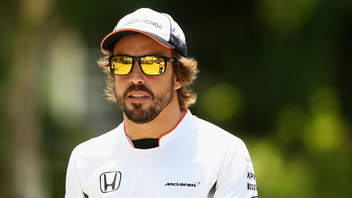 Alonso, en el Gran Premio de Malasia. (Getty)