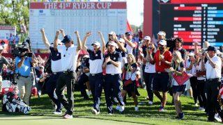 Estados Unidos celebra su triunfo en la Ryder Cup. (Getty)
