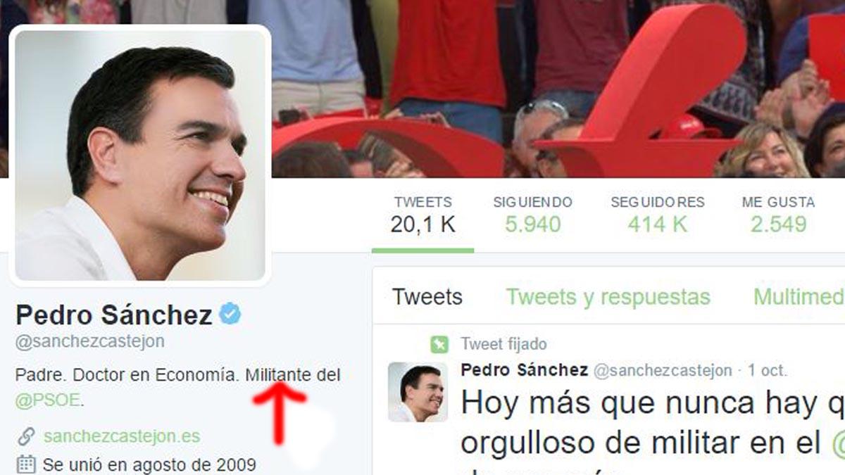 Twitter de Pedro Sánchez.