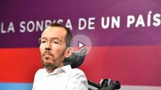 El secretario de Organización de Podemos, Pablo Echenique (Foto: AFP)