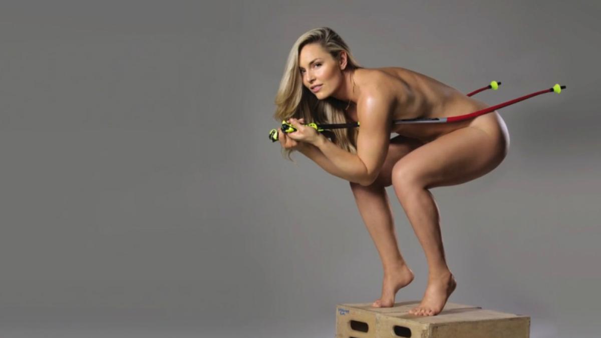 Lindsey Vonn posa desnuda para promocionar su libro.