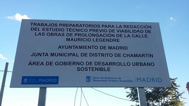 Señal que ha colocado el área de José Manuel Calvo. (Foto: OKDIARIO)