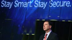 James Comey, director del FBI, en una cumbre de ciberseguridad. (Getty)