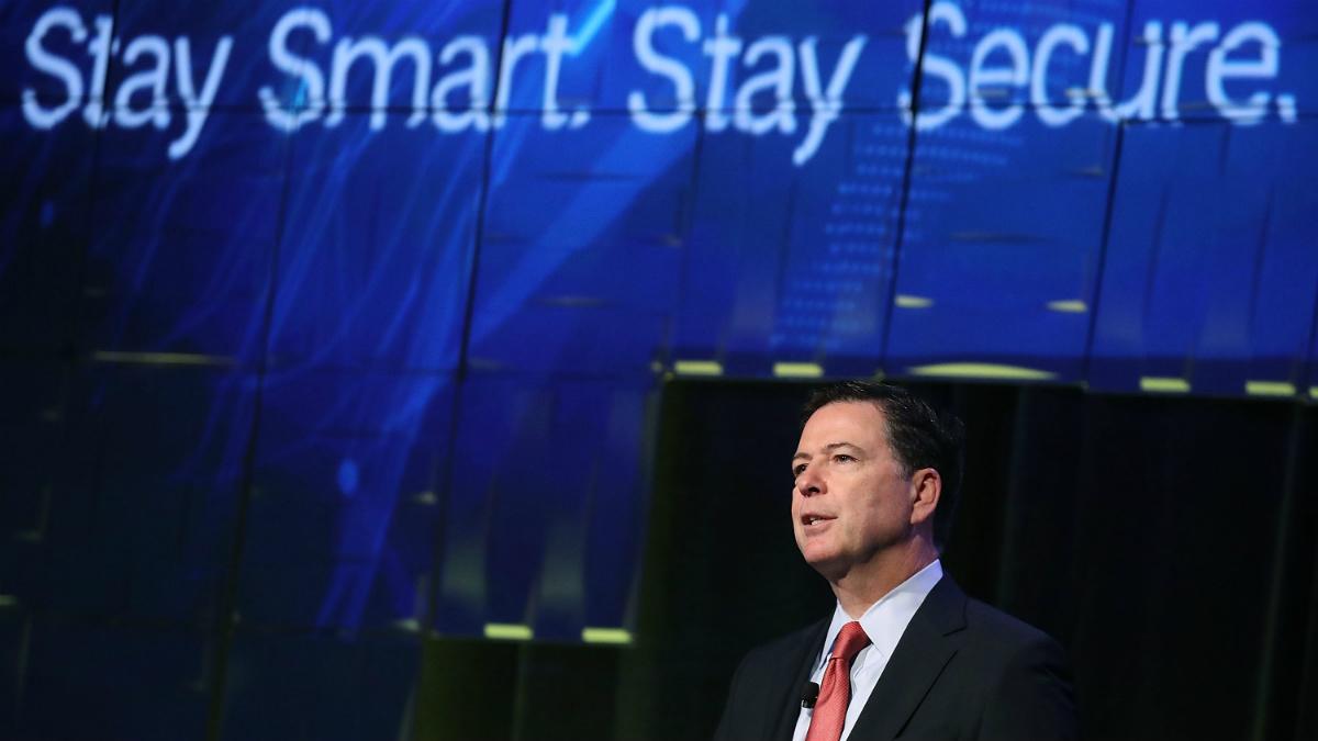 James Comey, director del FBI, en una cumbre de ciberseguridad. (Getty)
