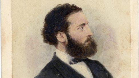 Fotografía inédita de un retrato del arquitecto Antoni Gaudí, probablemente su retrato mas joven. (Foto: EFE)