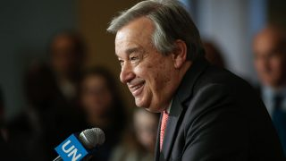 El ex primer ministro portugués, actual secretario general de la ONU, Antonio Guterres. (Foto: AFP).