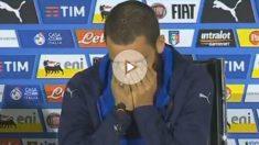 Bonucci rompió a llorar en plena rueda de prensa. (Twitter)