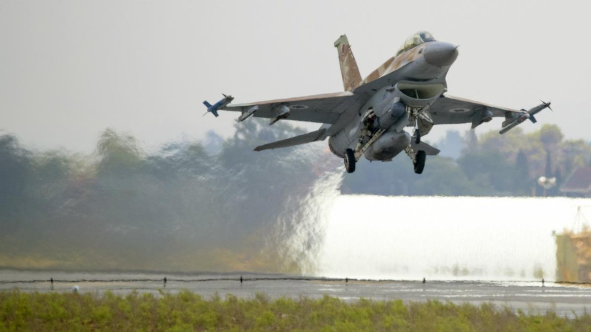Un F-16I de la Fuerza Aérea de Israel. (AFP)
