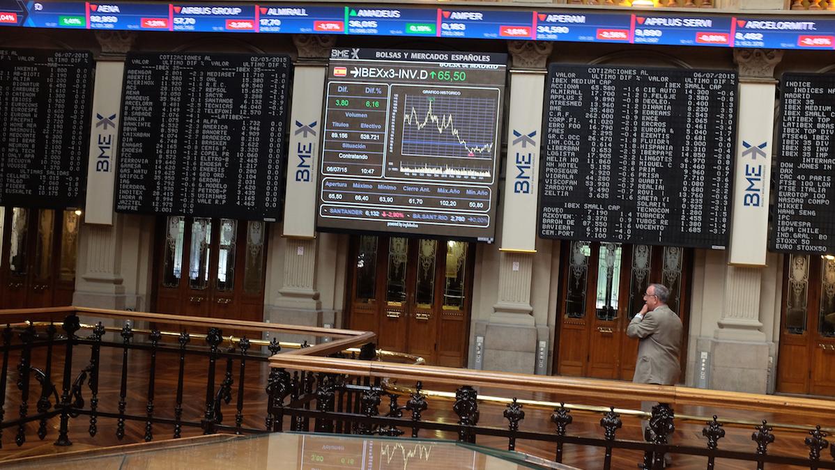 Interior de la Bolsa de Madrid (Foto: Getty)