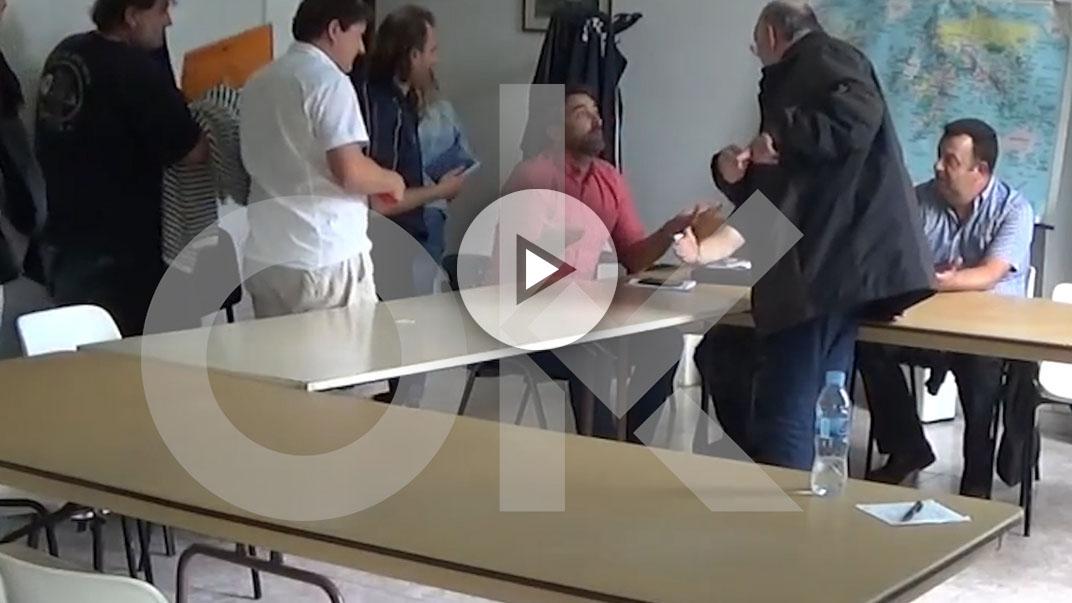 Asamblea del sector crítico de Podemos Galicia.