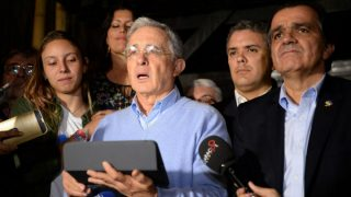 Alvaro Uribe, ex presidente de Colombia. (AFP)