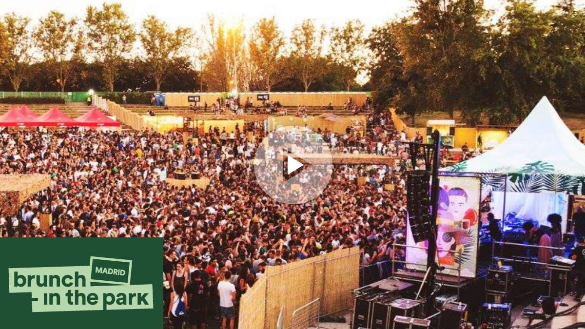 Así se llena el Parque de Tierno Galván en Madrid gracias a Brunch -In The Park. BRUNCH IN THE PARK