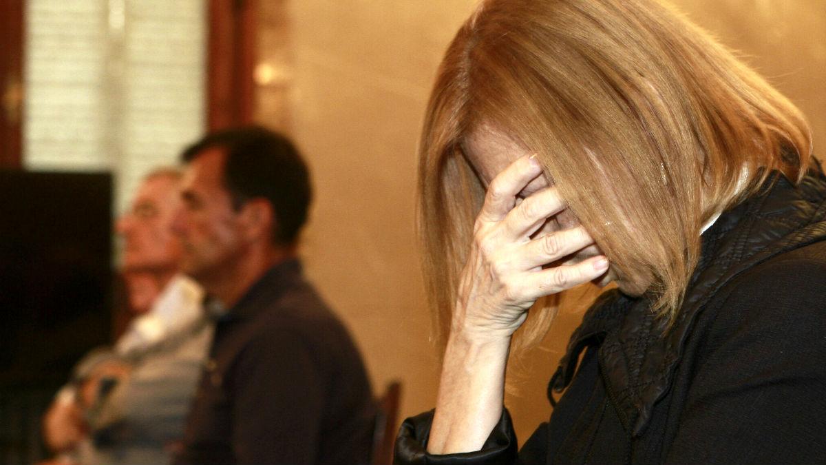 Munar se derrumba con la lectura del veredicto (Foto: Efe).
