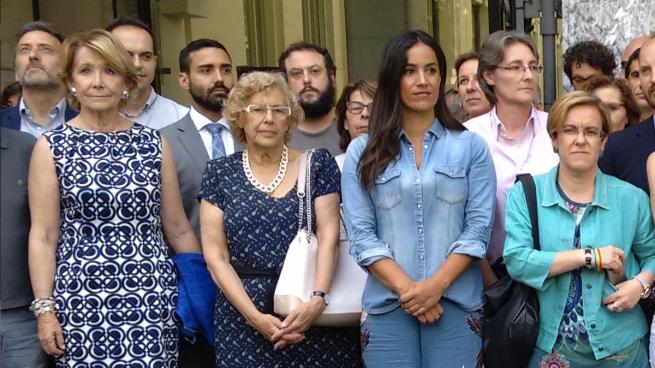 Esperanza Aguirre, Manuela Carmena, Begoña Villacís y Purificación Causapié.