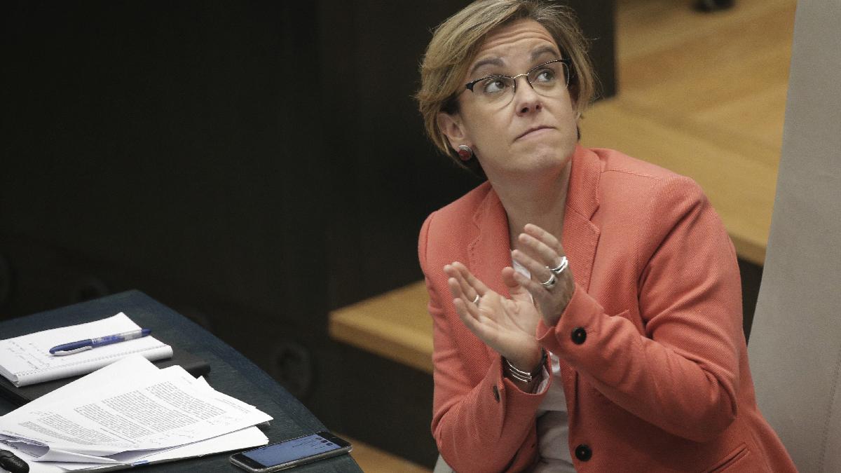 Puri Causapié, actual portavoz del PSOE en el Ayuntamiento de Madrid. (Foto: EFE)