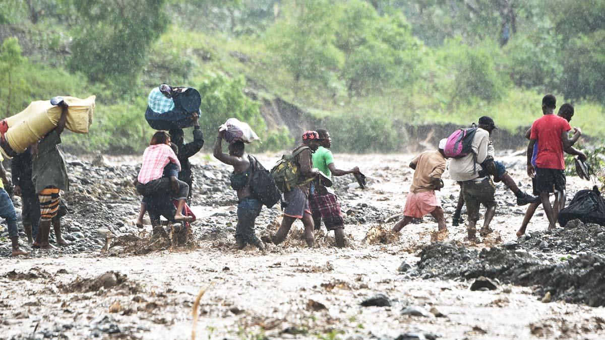 Catástrofe natural en Haití con el paso del huracán Matthew (Foto: AFP)