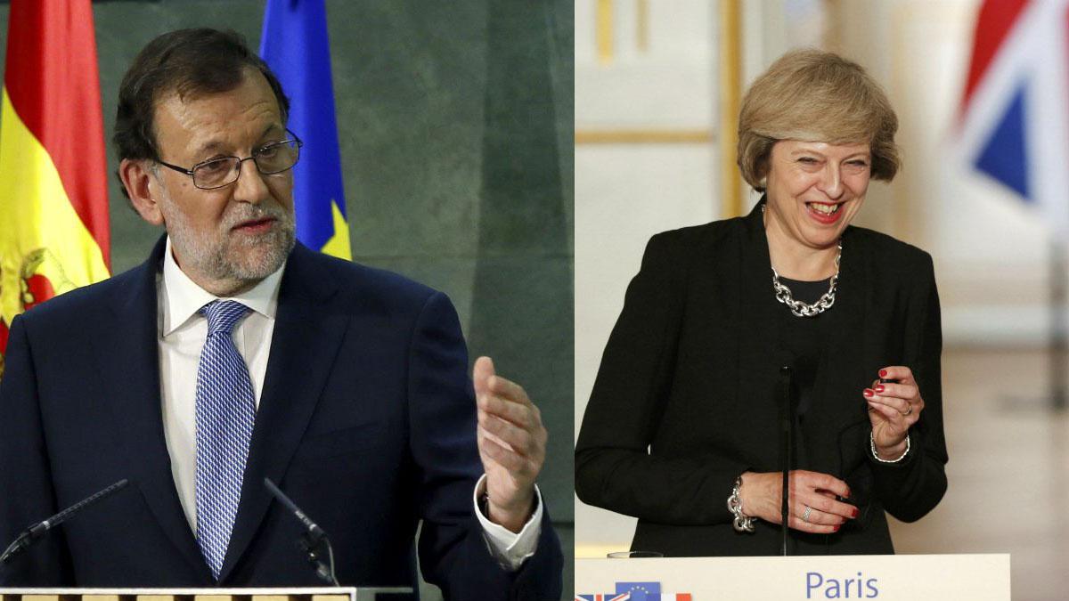 Mariano Rajoy y Theresa May.