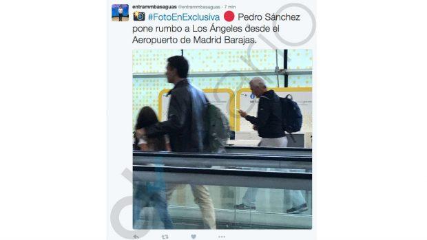 Pedro Sánchez sigue la crisis del PSOE…desde Los Ángeles