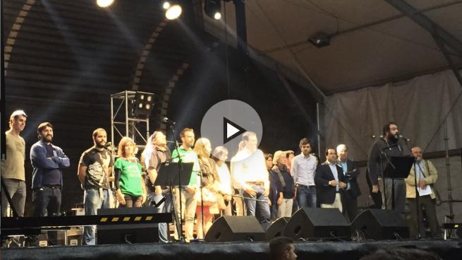 El antisemita Zapata convierte el pregón de las fiestas del Barrio del Pilar en un mitin de Podemos