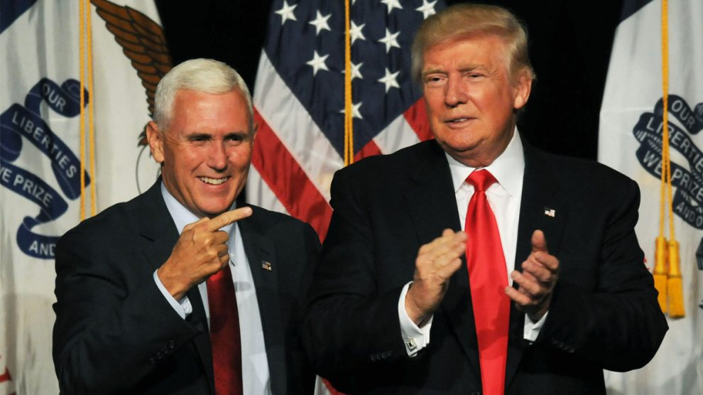 Mike Pence y Donald Trump (Foto: Getty)