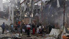 Daños por el ataque sobre los rebeldes huthis en Yemen (AFP)
