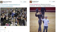Muestras de apoyo a Adrián en Twitter.