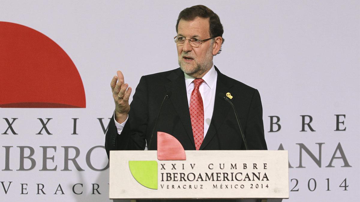 Mariano Rajoy durante la XIV Cumbre Iberoamericana celebrada en México. (Foto: EFE)