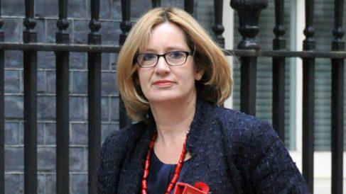 Amber Rudd, dimitida ministra de Interior del Reino Unido.