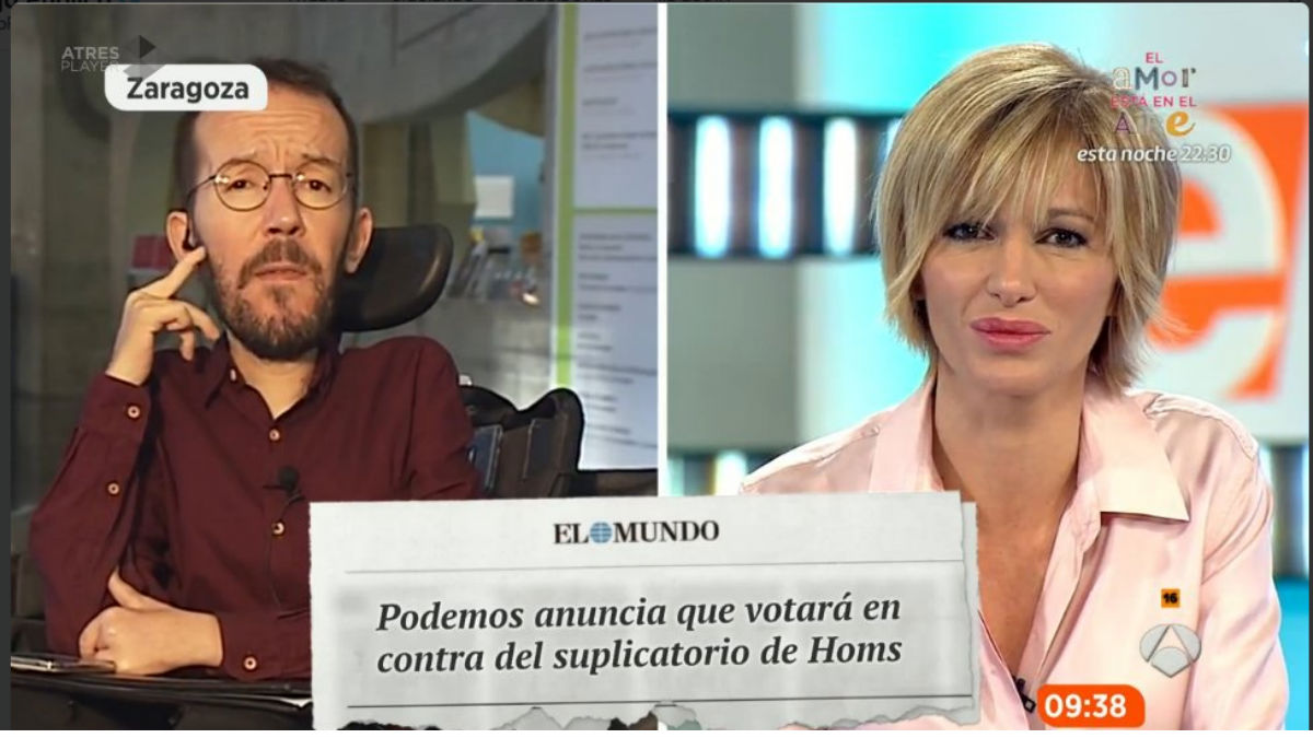 Pablo Echenique y Susanna Griso (Twitter)