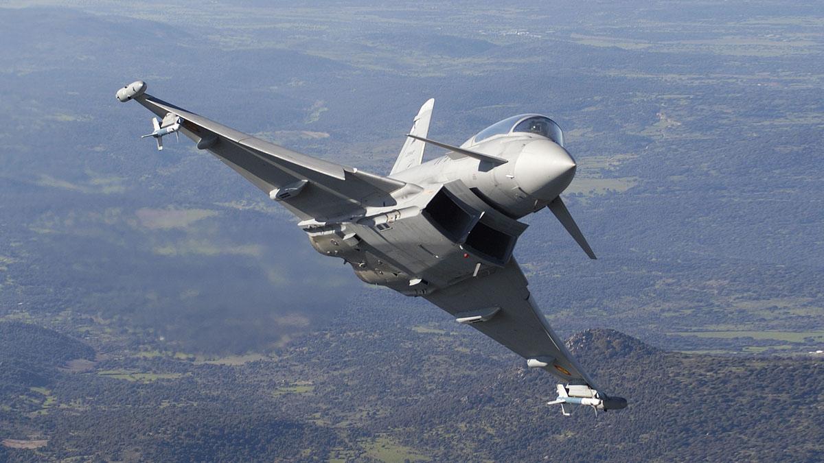 Eurofighter del Ejército del Aire como el que se vio envuelto en el incidente. (Foto: Ministerio de Defensa)