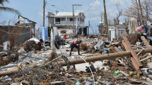 Haití tras el paso del huracán Matthew. AFP