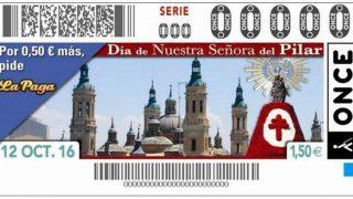 La Virgen del Pilar protagonista en los cupones de la ONCE