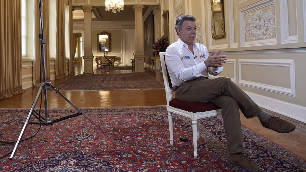 El presidente de Colombia Juan Manuel Santos (Foto: AFP)