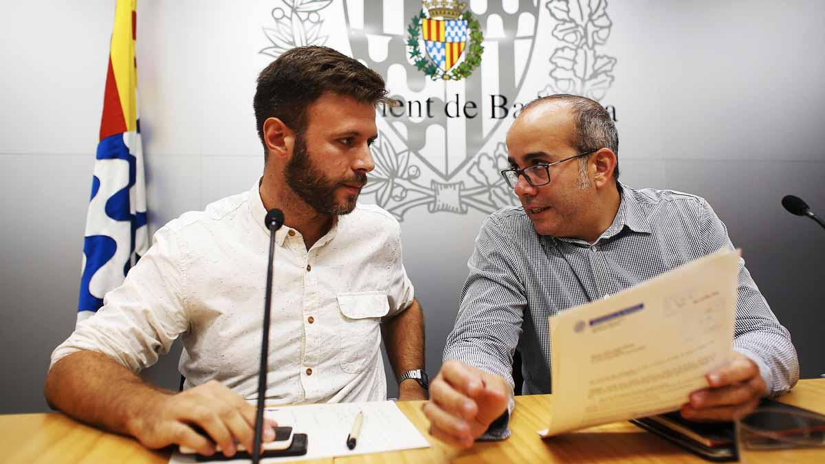 José Téllez y Oriol Lladó anuncian la intención de incumplir el auto del juez en Badalona (Foto: EFE)