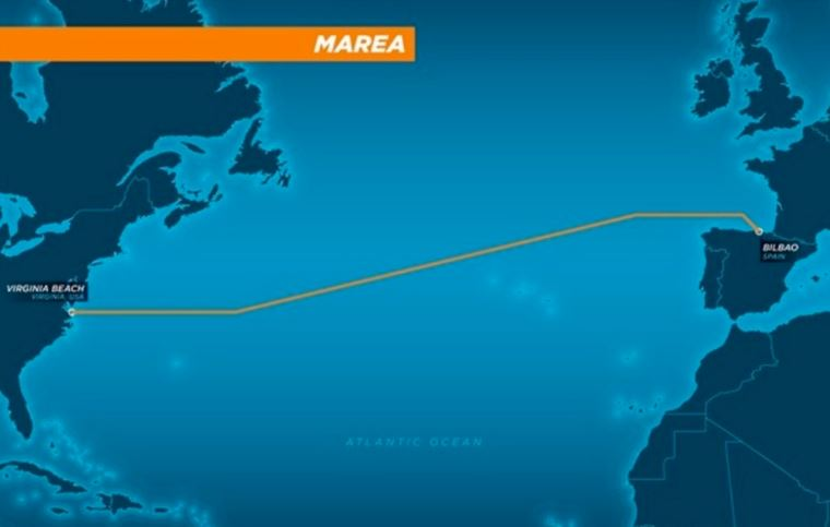 Cable Marea entre Virginia Beach y Bilbao (