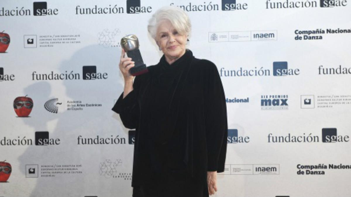 Lola Herrera, Premio Max de honor 2016. LUIS CAMACHO / Fundación SGAE