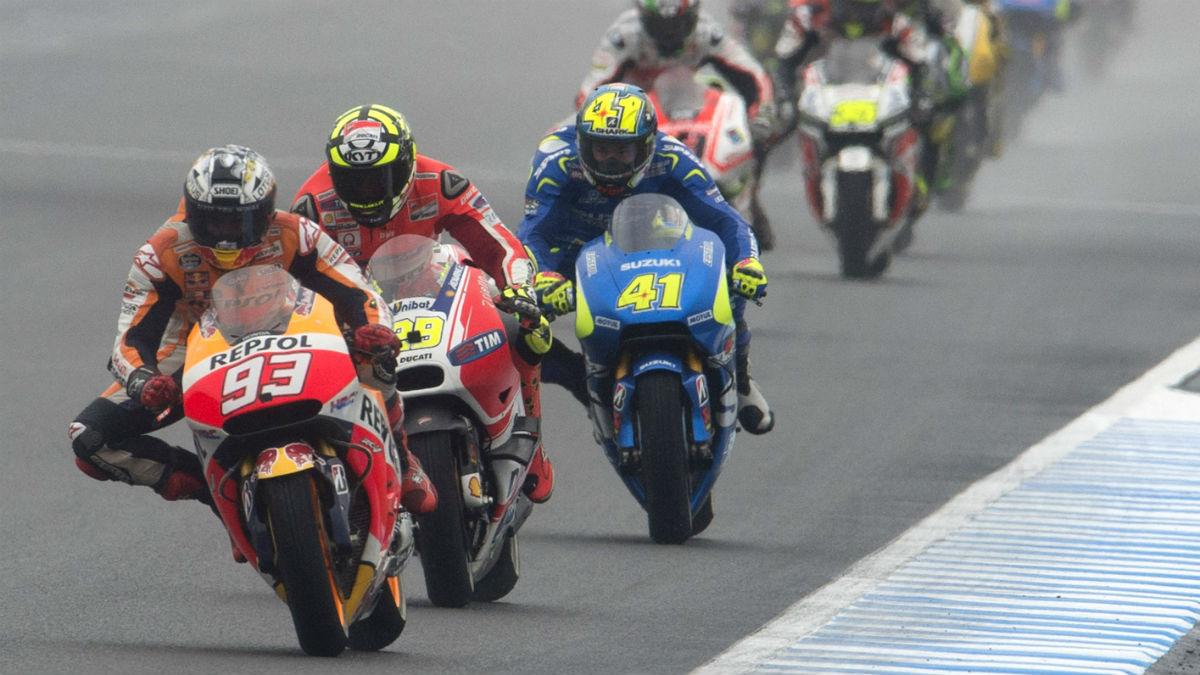 Marc Márquez tiene la primera bola de partido este fin de semana en el Gran Premio de Japón de MotoGP. (Getty)