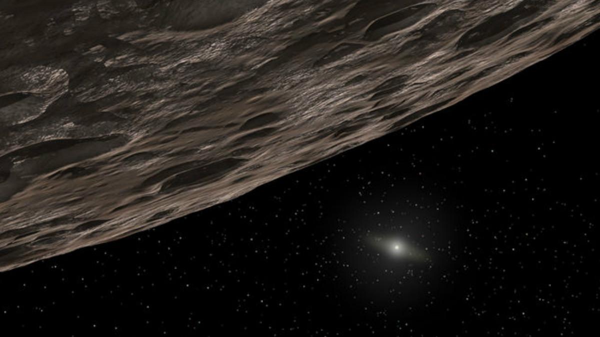 Concepto artístico de un objeto del Cinturón de Kuiper (KBO). Un objeto recién descubierto (2014 UZ224) situado más allá de la órbita de Plutón puede ser lo suficientemente grande como para calificar como un planeta enano. SPACE.COM